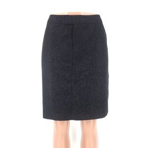 J. Crew Felted Wool Charcoal Gray Skirt